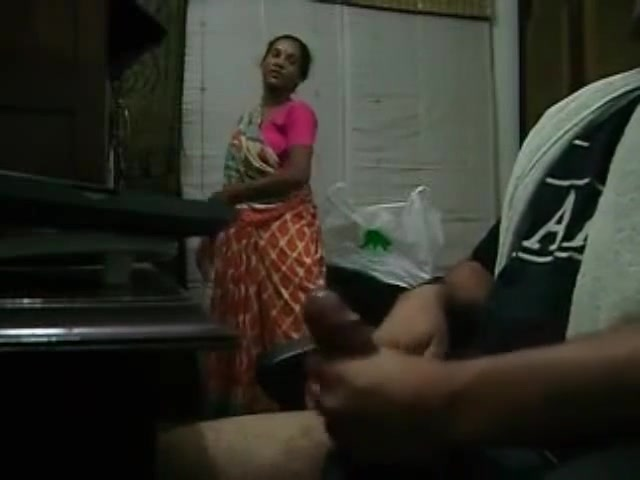 Maid Caught Jerking Off