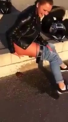 drunk girl pissing