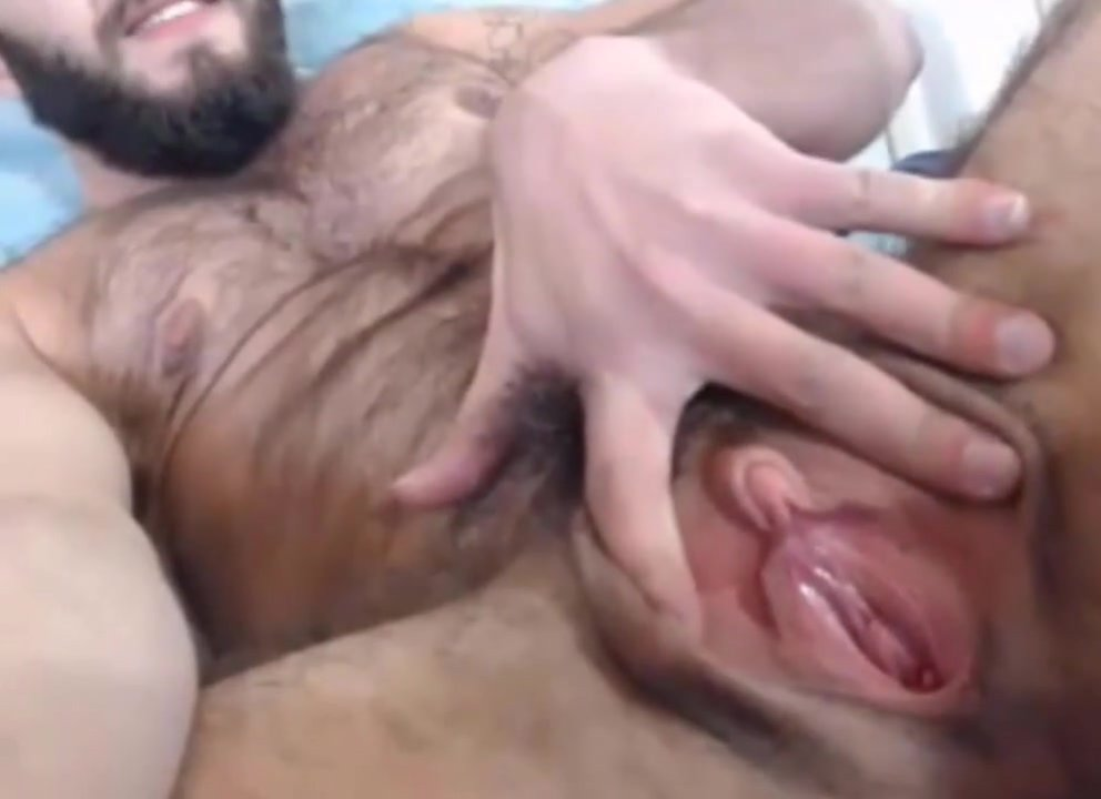 sexy hairy muscle man with a sweet pussy part 1
