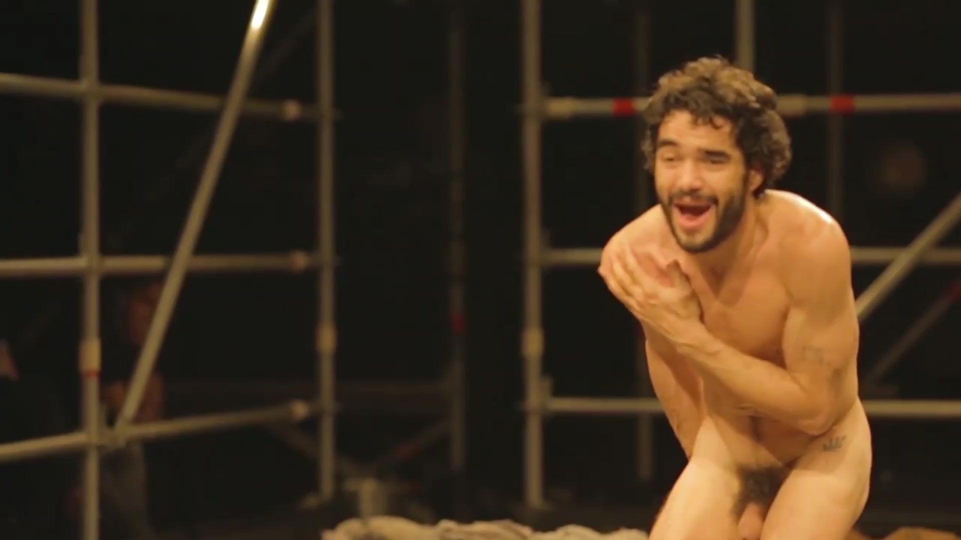 Caio Blat Full Frontal in a Stage Play