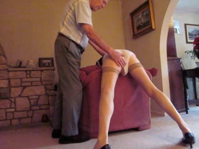 Older wife gets spanked apologise