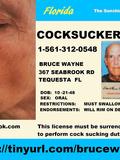 Bruce Wayne 367 Seabrook Road Tequesta Florida