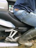 Sitting on bike tight levis 501's