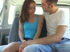 Wild amateur sex with cute teen in the car