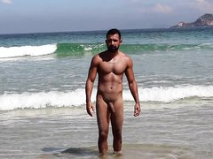 Nudist Daddy at the Beach