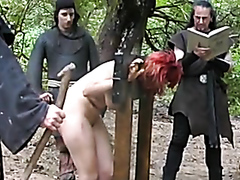Redhead sex slave dominated and humiliated