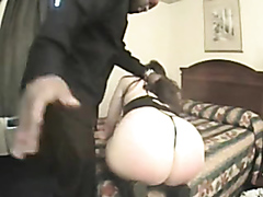 Bubble butt white milf drilled by a black cock