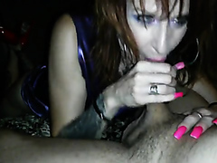 Slut sucks dick after the first date