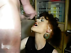Wife taking big facials compilation