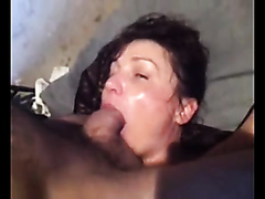 training his bitch throat for fucking