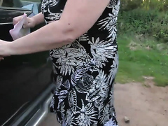 A blonde Busty Milf-Slut Outdoors in the Summertime 2_720p