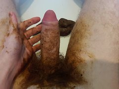 Smeared bush and big cumshot!