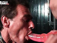 Bad slave gets his asshole punished