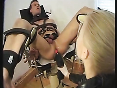 Strapped guy dominated by a hot mistress