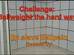 Challenge: Ballweight  the hard way. Second try
