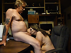 Toothless mature wife sucking dick