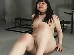 Japanese slave girl dominated in the dungeon