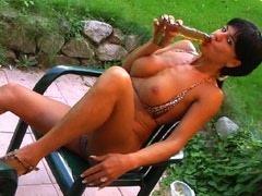 Hot brunette adores vomiting and drinking urine