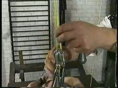 Blonde with small tits was abused