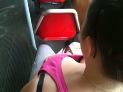 Crazy guy was jerking off in the tram