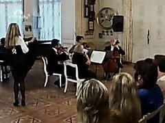 Symphony orchestra and stripper prank