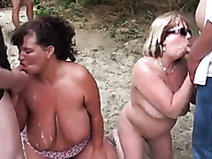 Mature wives sucking cocks at the beach