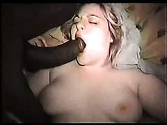 Slutty amateur bitch enjoys getting banged by a big black cock