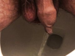 hairy uncut piss at home