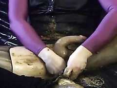 Tranny in ballet leotard playing in shit