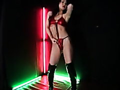 Japanese stripper dancing while taking a shit