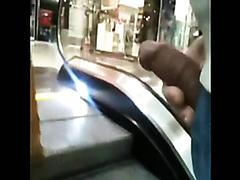 Kinky guy cumming on unsuspecting girls in public
