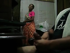 Maid catches me jerking off