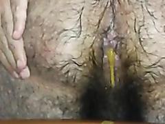 Liquid shit from a hot hairy ass