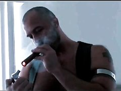MAN SMOKE ARCHIVE - BRIT BARE BEAR GAR PIGS 1 - SERVICED BY LEATHER PIG