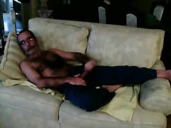 old video of hairy mature wanker