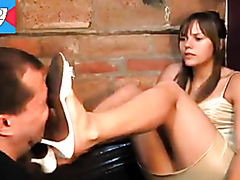 Licking my mistress shoes