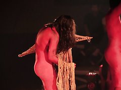 ART PERFORMANCE WITH LOT OF NUDITY