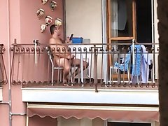 Daddy Caught jerking off on the balcony