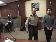 Handcuffed in court and sentenced 02