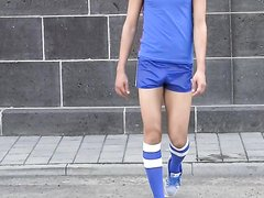 Shiny shorts blue adidas nylon Glanzshorts