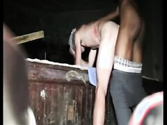 White boy rough fucked in the basement by BBC