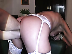 Mature lady drilled with a fist