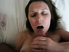 Milf takes a big messy facial