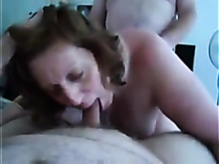 Mature lady gets busy with two guys