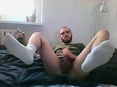 beard play with dildo
