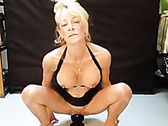blondy milf sit on big dido