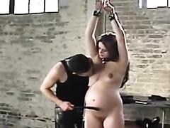 Pregnant looker has her wet vagina slammed really hard