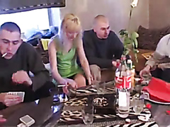 Russian housewife has gangbang with 5 youths