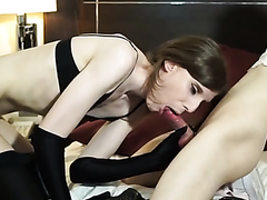 Two raunchy cross-dressing studs enjoy fucking each other hard