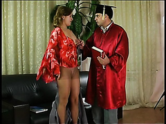 Raunchy student has her juicy pussy licked and drilled